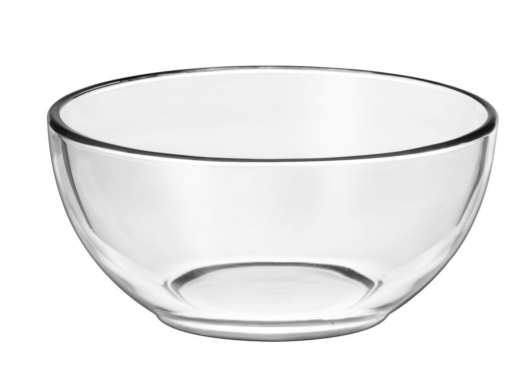 Large Clear Glass Serving Bowl A Place Setting